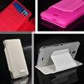 5 cores de couro pu macio tpu inner fique wallet caso capa de couro da aleta para sony xperia zr m36h c5502 c5503