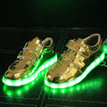 2016 New Girls/Boys LED Light Sneakers 7 LED Colors Children Fashion USB Charging Sneakers Kids Flashing Lights Shoes size 30~35