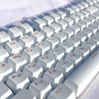 러시아어 Languag ABS Keycaps 빛은 체리 MX 기계식 키보드 키 캡 스위치 104 Keyscaps