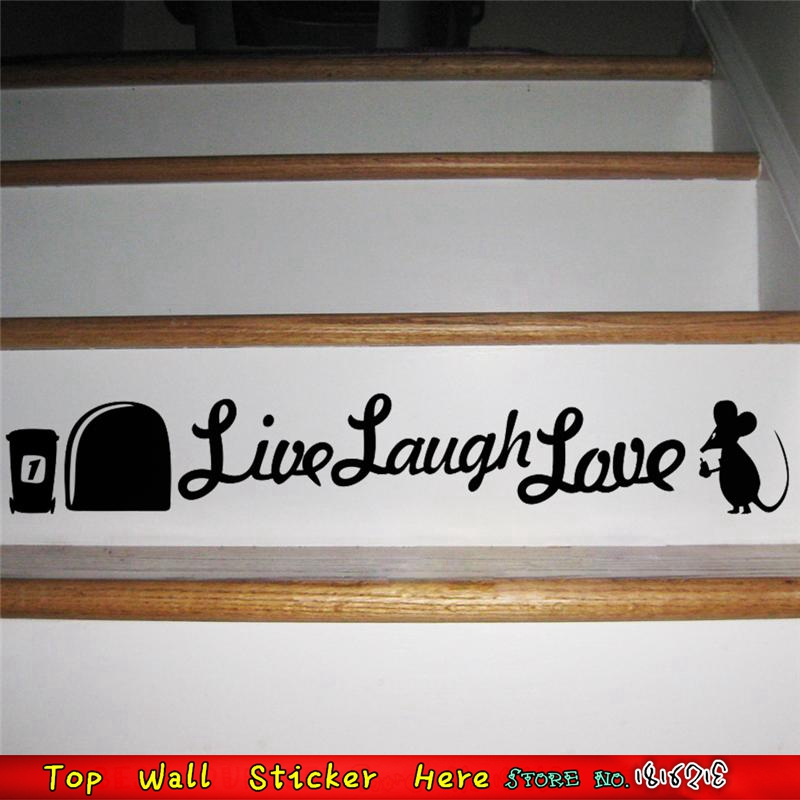 Mouse Hole In Wall Stickers Home Stairs Decoration