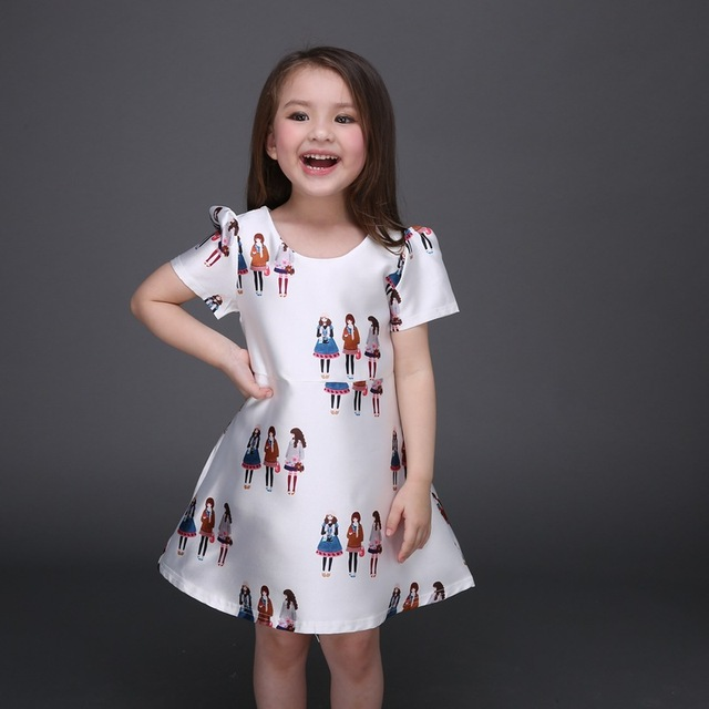 947d032de High end white girl dress party princess dress shortsleeve young ...