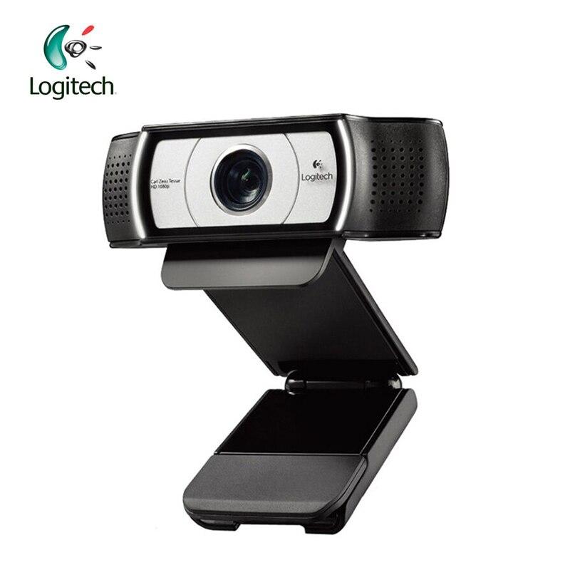 Logitech c930e 1920*1080 HD garle Zeiss линзы Сертификация веб-камера с 4 раз цифровой зум Поддержка официальный проверки для ПК