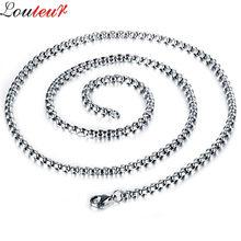 Louleur-collier Long avec chaîne en acier inoxydable pour hommes, Vintage, ras du cou, bijoux pour hommes