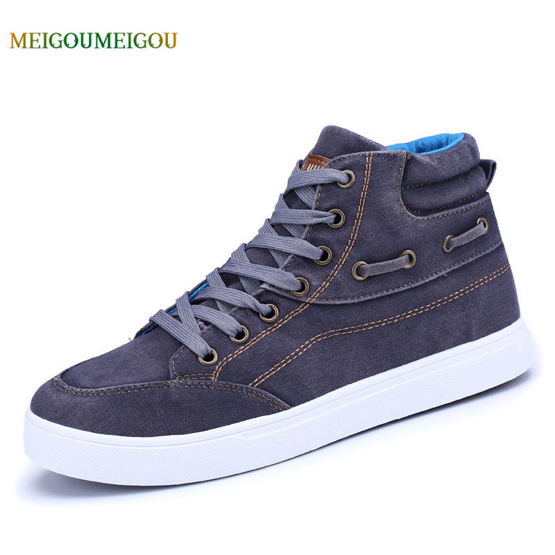 MEIGUOMEIGOU Washed Vulcanized Shoes Men Lace-up Autumn Men Canvas Shoes Non-slip Outsole 39-44 Men Casual Shoes Comfortable men s leather shoes vintage style casual shoes comfortable lace up flat shoes men footwears size 39 44 pa005m