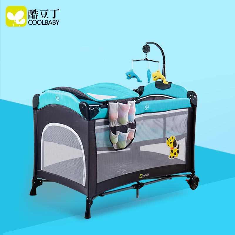 COOLBABY babybett faltbare tragbaren kinderbett shaker für neugeborene kostenloser lieferung nach Russland