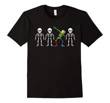 d35b4094a15 Summer 2018 Plus Size Design To Be Yourself Design With Dabbing Skeleton  For Autism Crew Neck Short-Sleeve Mens T Shirts