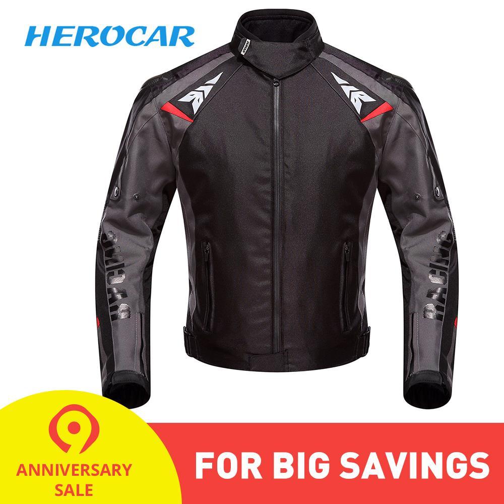 DUHAN Moto Veste Moto Automne Hiver Étanche Froid-preuve Biker Veste Hommes Moto vêtements pour cyclisme équipement de protection