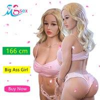 Super Big Ass Real Completa Silicone Sex Dolls 166 cm Peito Pequeno Manequins Japonês Verdadeira Boneca Sexual de Tamanho Para Os Homens sexo