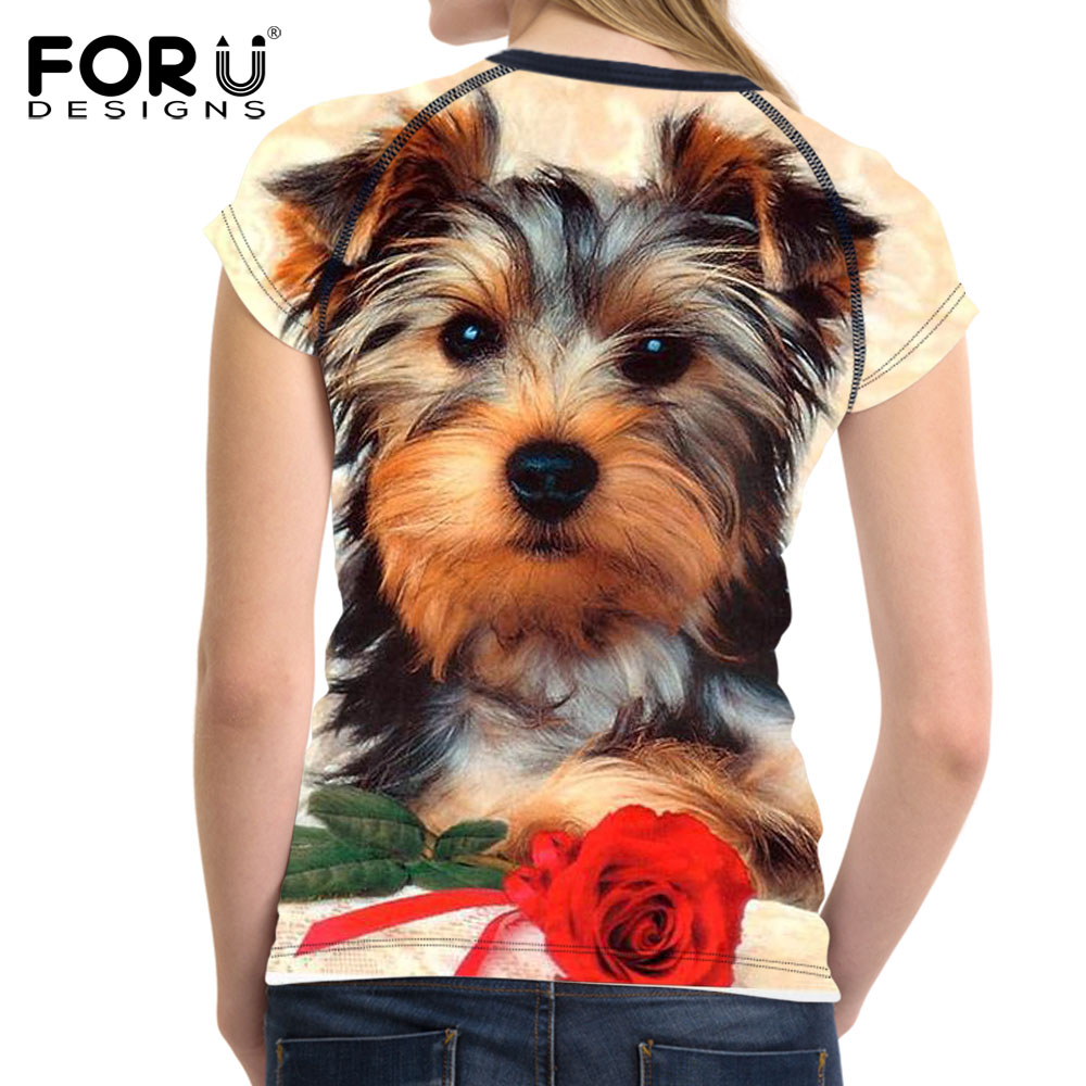 FORUDESIGNS Super Cute Chihuahua Camisetas Mujer Summer Tops - Ropa de mujer - foto 3