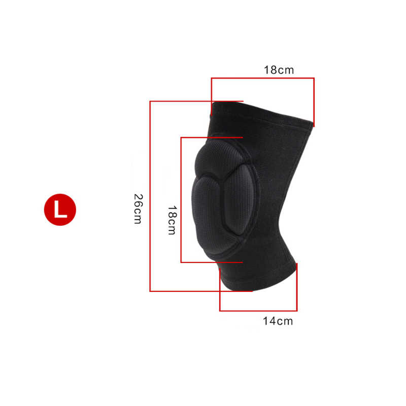 Newly 1 Pair Protective Knee Pads Thick Sponge Anti-slip Collision Avoidance Knee Sleeve for Sports  BF88
