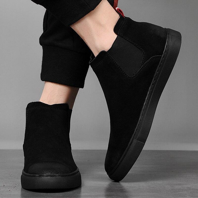 black Hommes Spéciale 39 Suede on White Chaud Slip black White 46 Sneakers Plat Black Formateurs Top Respirant High Grand Offre Taille Fur Fur De Mode Et black Skate Casual Chaussures xYwpqRc5d