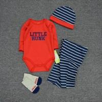 High Quality Baby Boys Jumpsuit Infant Newborn 0 12M Boys Girls Cotton Bodysuits Clothes Sets Tops