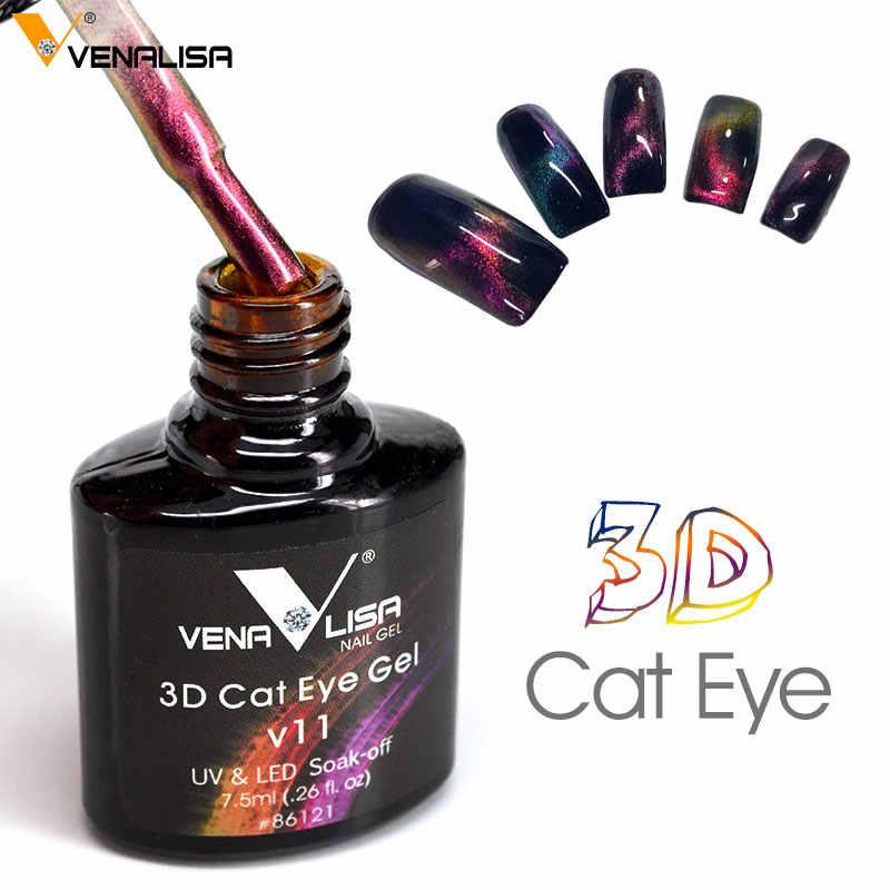 חדש נייל אמנות עיצוב Venalisa חדש 3D שינוי צבע קסם מגנטיות חתול עיני ג 'ל פולני 3D מגנטי חתול ג' ל פולני למעלה מעיל לכה