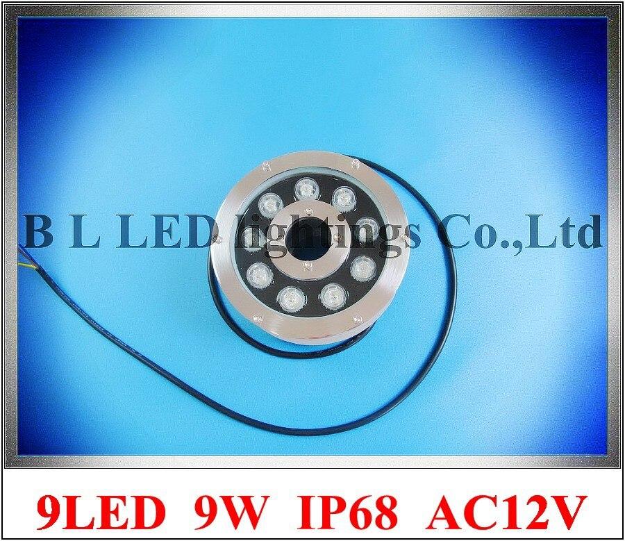 9W LED underwater light LED swimming pool light LED fountain light lamp AC12V AC24V DC12V DC24V input (compatible) 9W IP68
