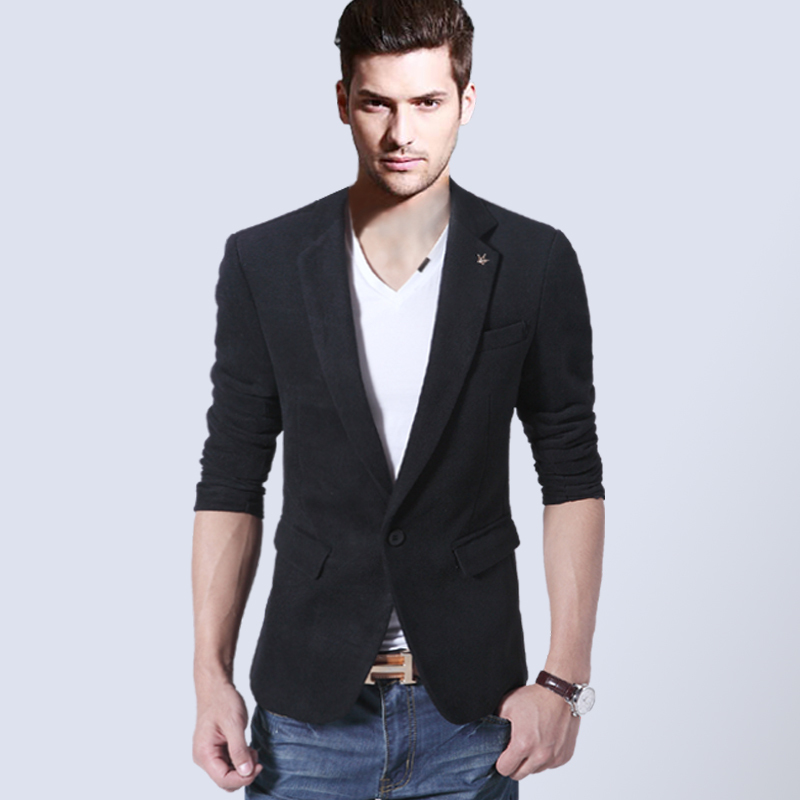 New Arrival Single Button Leisure Blazers Men Male 2015 Fashion ...
