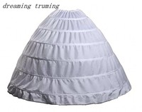 Muilt Colored 6 Hoop Petticoat Underskirt For Ball Gown Wedding Prom Quinceanera Bridal Accessories In Stock