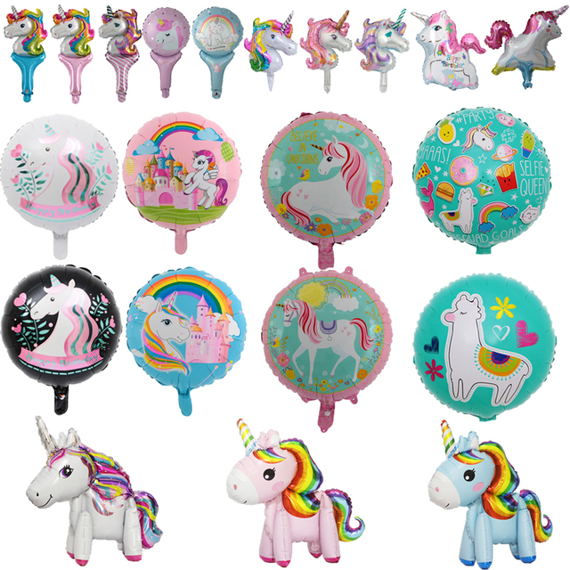 Unicorn Party Balloons Engagement Wedding Children's Day Birthday Party Decoration Foil Balloon Unicorn Balloon Party Decoration