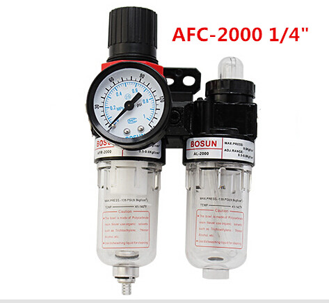 free shipping AFC-2000 1/4 BSPP Pneumatic Air Filter Regulator Lubricator Combinations Oil Separator High Quality In Stock afc 2000 1 4 bspp pneumatic air filter regulator lubricator combinations oil separator high quality in stock