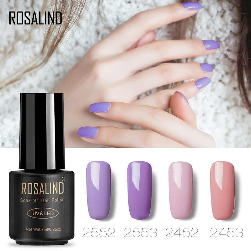 ROSALIND Gel 1 s Nail Gel Polish 7 ml Rode Kleur Serie losweken uv Vernis Semi Permanente Gel Lak manicure voor Nagels Polish