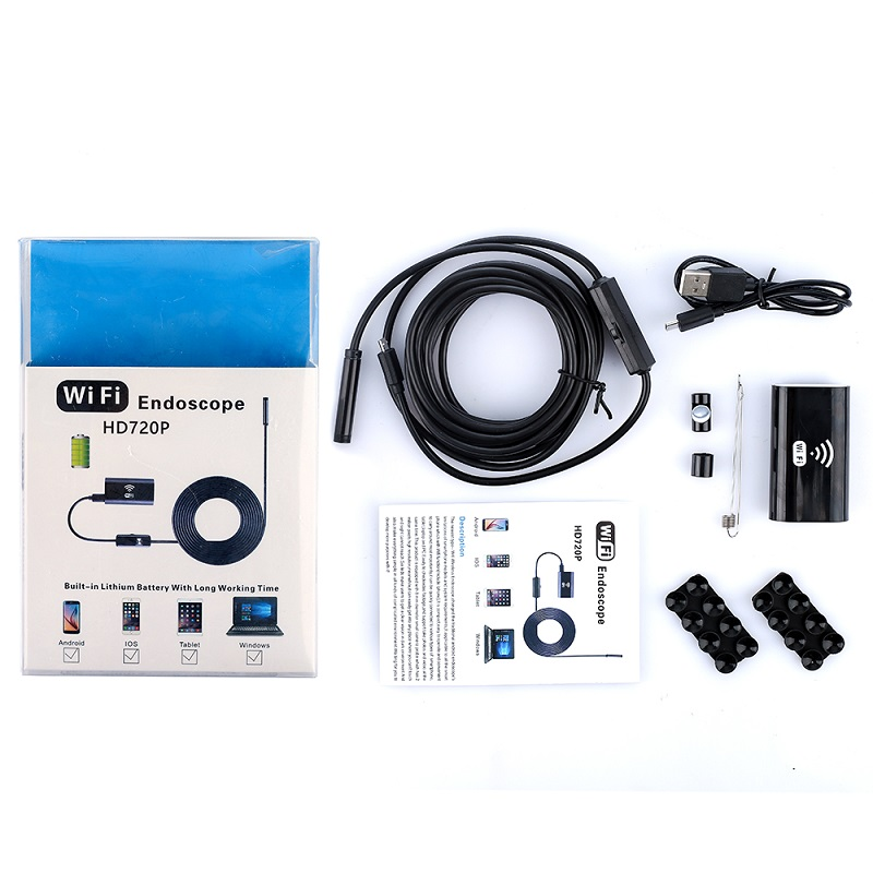 HTB1Y0qMGVuWBuNjSszbq6AS7FXaD 8mm Lens HD 720P Wifi Endoscope Camera Soft Hard Wire IP67 Waterproof USB inspection borescope Camera for Android IOS iPhone