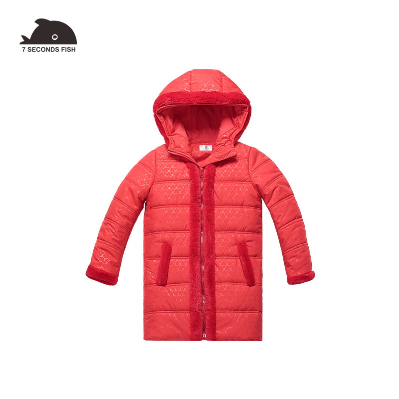 2018 New Girls Long Padded Jacket kids Winter Coat Kids Warm Thickening Hooded padded Coats For Teenage Outwear -30 winter coat women s new winter quilted jacket chunky puffer coat full zip spliced sweater hood padded outwear with knit sleeve