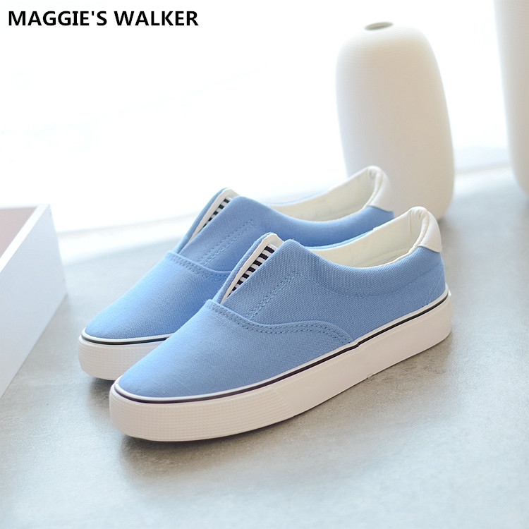 Maggie's Walker Women Fashion Round-toe Canvas Casual Shoes Slip-on Loafers  Out-door Shoes Size 35-39 rustu r12h 800lm 5 mode memory white flashlight grey 1 x 18650