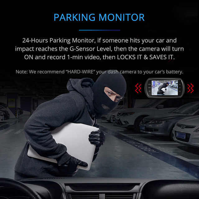 AZDOME M11 3 pulgadas 2.5D IPS pantalla cámara de salpicadero coche DVR grabadora HD 1080P lente Dual coche Video Dashcam visión nocturna cámara de salpicadero era GPS