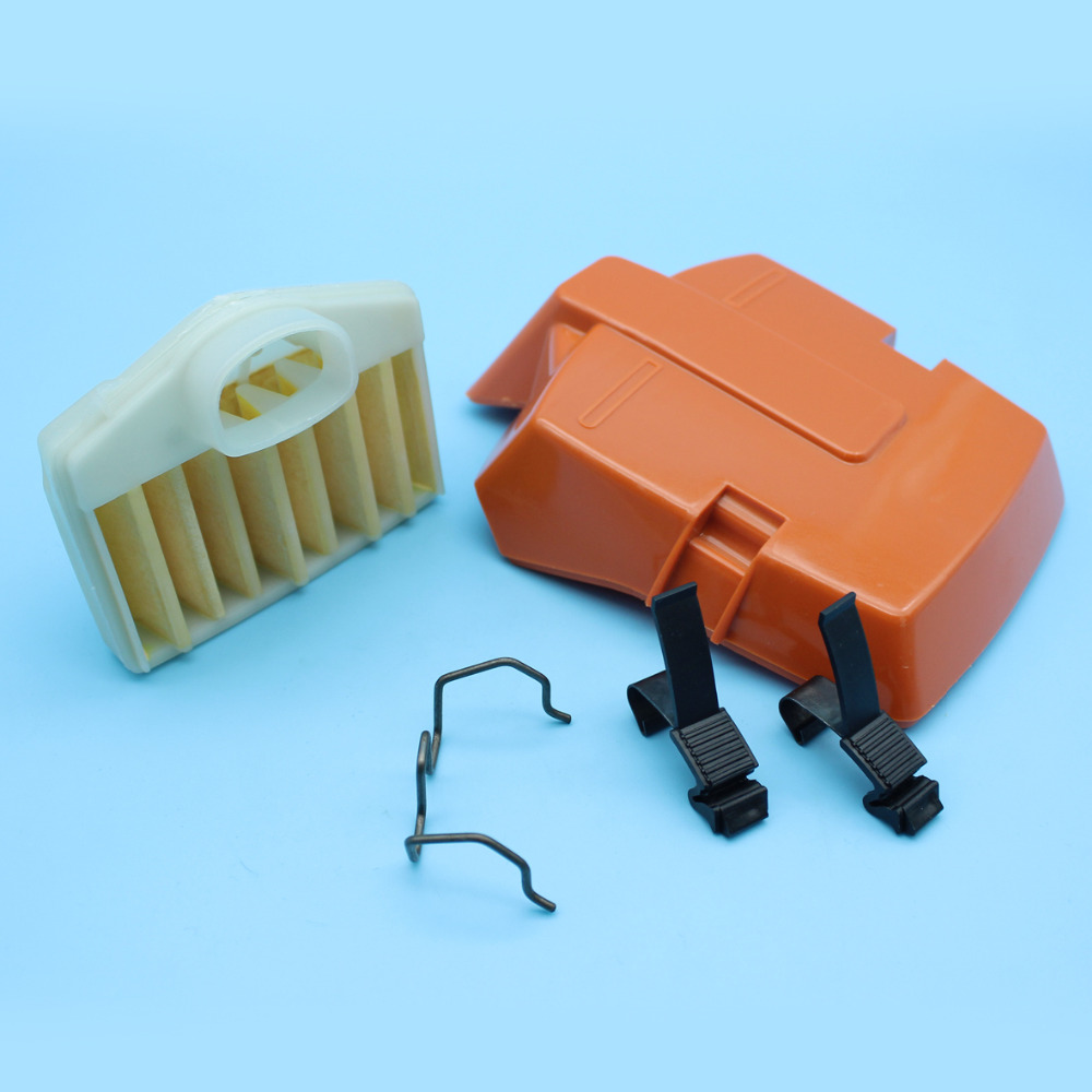 Air Filter Cover Clip Spring & Holder Fit For Husqvarna 362 365 371 372 Chainsaw Replacement 503 81 45 02, 503 73 54 01