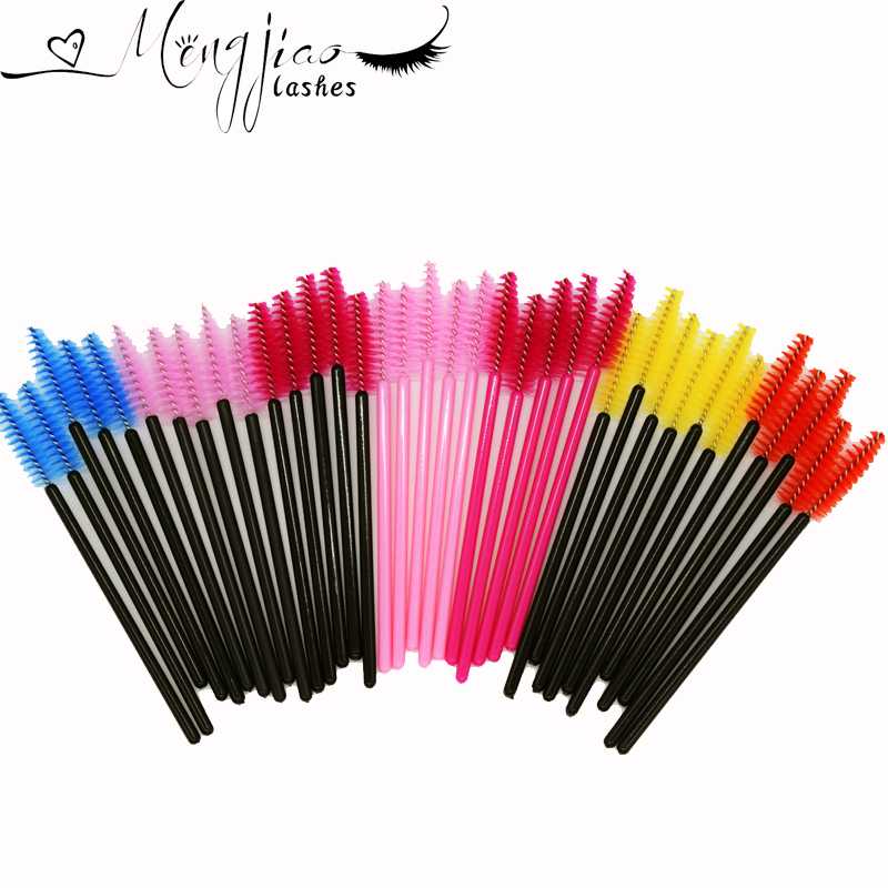 100pcs/Lot Disposable Eyelash Brush Mascara Wands Applicator Eyelash Comb Makeup Brushes For Individual Eyelash Extension100pcs/Lot Disposable Eyelash Brush Mascara Wands Applicator Eyelash Comb Makeup Brushes For Individual Eyelash Extension