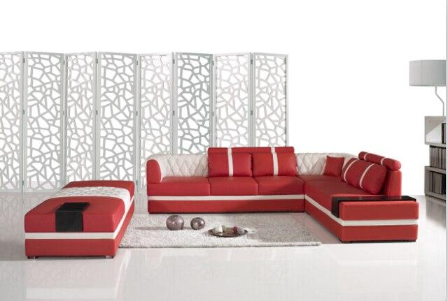 Divani per soggiorno con divani angolari in pelle incluso grande ...