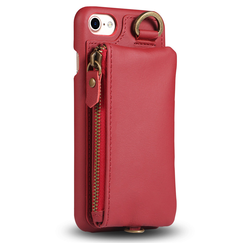 COQUEN For iphone 7 Plus Case Genuine Leather Wallet Bag Luxury Credit Card Flip Cover Vintage Handle Phone Cases For iphone 7   (4)