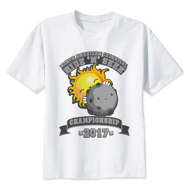 solar eclipse T-Shirts Men Personalized Custom Tee 2017 Summer Short Sleeve Fitness T shirt MR1568