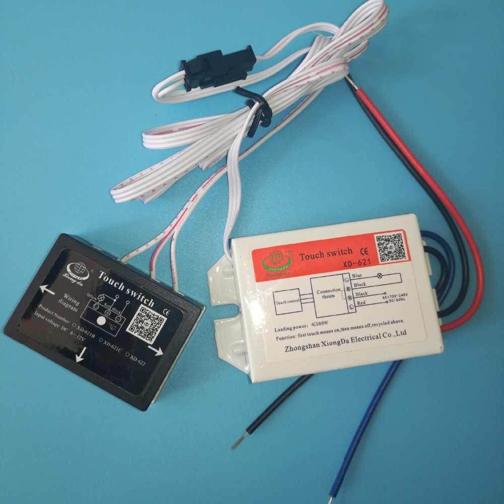 170 240V On/Off Touch Switch for Mirror Lamp Lighting ... Xiongda Ignition Switch Wiring Diagram Color on