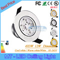4pcs Led Recessed lamp 9W 12W Led Bulb 85-265V LED lighting led downlight spot light with led driver