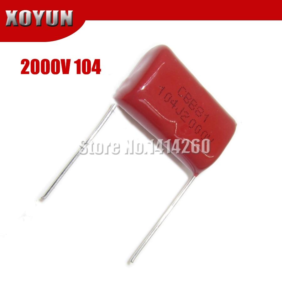 10PCS CBB 202J 1600V CBB81 2000PF 2NF P15 Metallized Film Capacitor