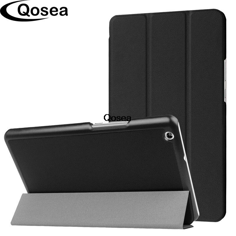 Qosea Pour Huawei MediaPad M3 Lite 8.0 10.1 pouce De Luxe PU En Cuir Smart Stand Cas MediaPad M3 Lite 8.0 10 Tablet PC Couverture de Stand