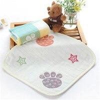 Towel Марли Нагрудники Детские Носовые Платки Produtos Infantil Дети Платок Площади Кормление Towel 100 Хлопок Младенцы 50A003