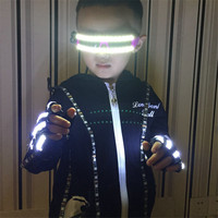 Birthday Gift LED Luminous Flashing Illuminate Children Gloves Led Party Glasses Stage Show Event Party Supplies