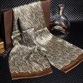 160*28 cm moda de lujo 2016 marca 100% Bufanda de Seda de los hombres Nuevo Estilo Masculino Suave Bufandas Impreso Otoño cuello foulard cachecol