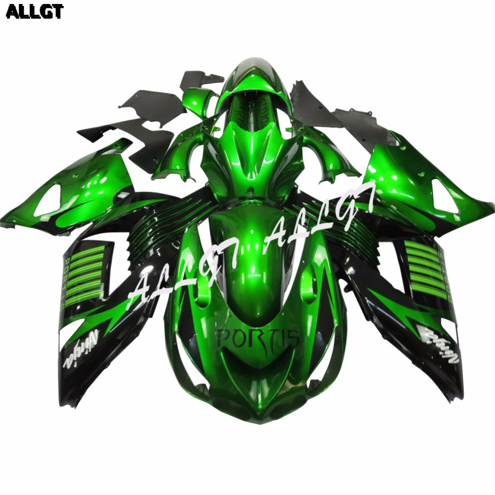 Glossy Green Fairing Kit For Kawasaki Ninja Zx Zx R Zx R Zzr on 2010 kawasaki ninja zx 14