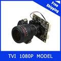 HDTVI Câmera 1080 P 2.8-12mm Lente Zoom Motorizado & Auto Focal PTZ 2MP CCTV módulo da câmera bordo