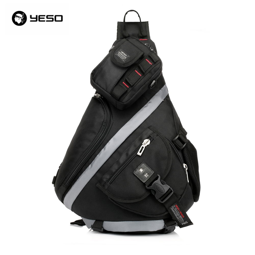 YESO Brand Fashion Men and Women Waterproof Nylon Messenger Bags Cross Body Shoulder Chest Bags Packs Water Shape Large Capacity цены онлайн