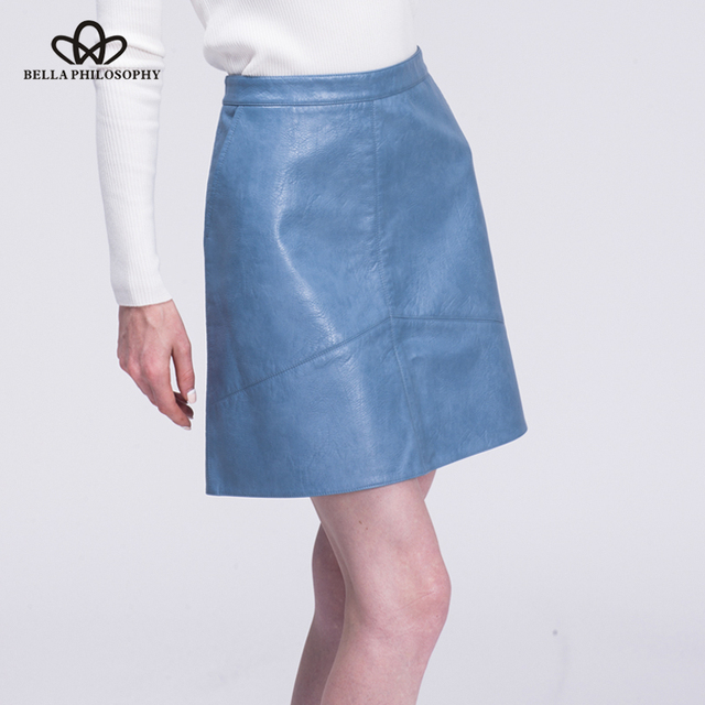 Bella Philosophy faux leather high waist skirt