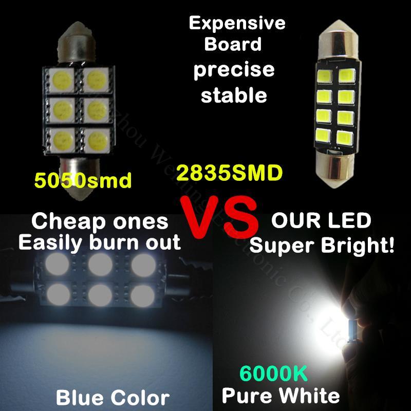 WLJH 6шт C5W 36 мм світлодіодний - Автомобільні фари - фото 3