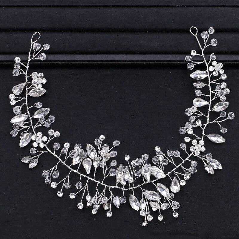 Crystal Headband Hair-Ornaments Hair-Jewelry Crown Rhinestone Wedding Bridal Women