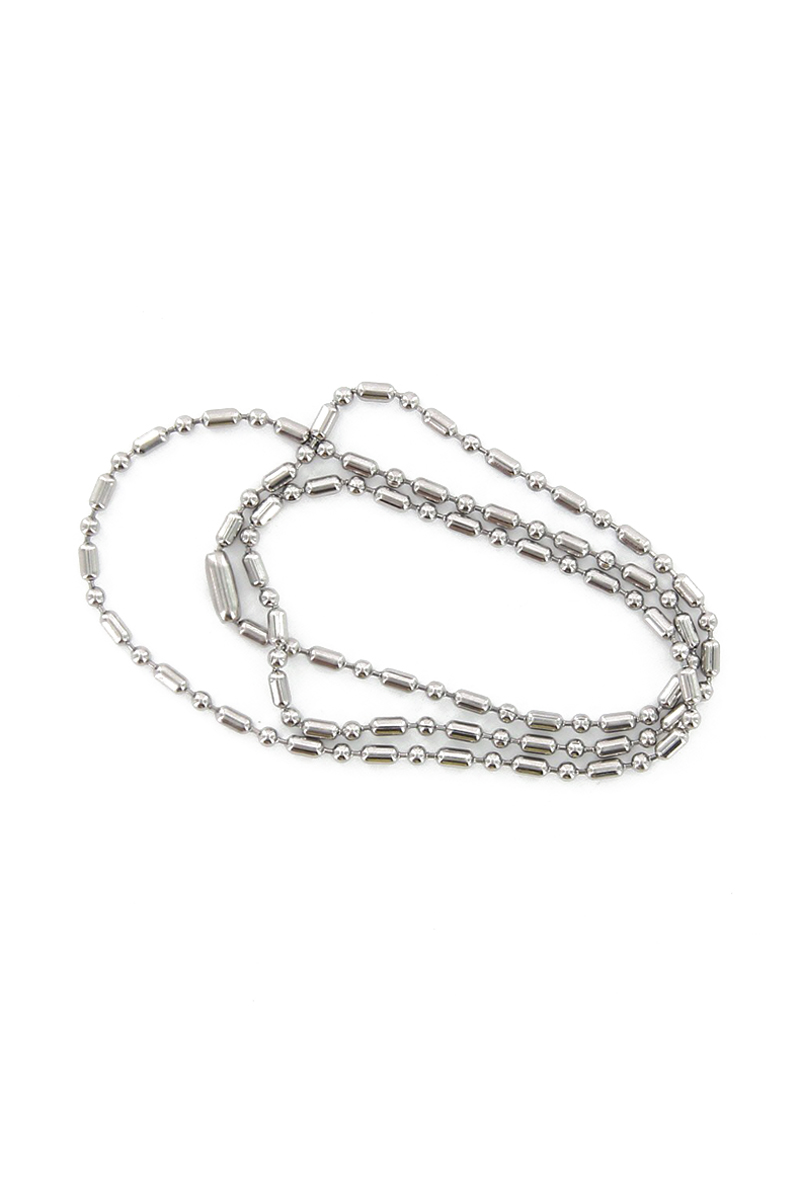 Zzooi 20PCS Stainless Steel Number Tags with Ball Chains 1-20