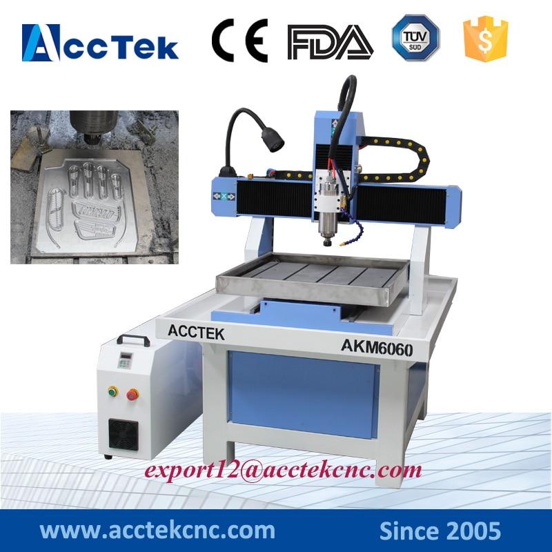2.2kw cnc milling machine metal engraving machine cnc moulding machine 6060 for copper brass aluminum