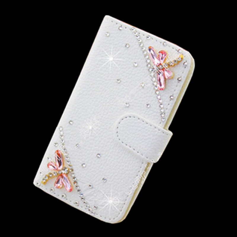 XINGDUO B8 Flip Bling Crystal Card Wallet Case Stand Cover PU Leather For Samsung Galaxy and iphone