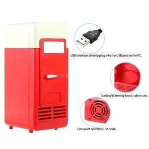 Image 4 - Mini réfrigérateur Usb congélateur à froid Mini réfrigérateur Mini Portable Soda Mini réfrigérateur pour voiture noir