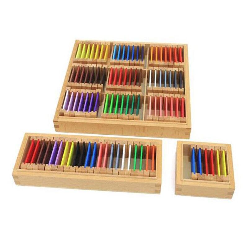 Montessori matériel couleur carte enfant couleur capteur début d'apprentissage aides pédagogiques sensorielles bloc de construction montres en bois jouet